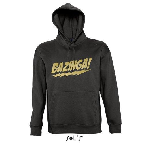 BAZINGA, The Big Bang Theory - Kapuzen Sweatshirt - Pullover S-XXL , Deep black - gold , M