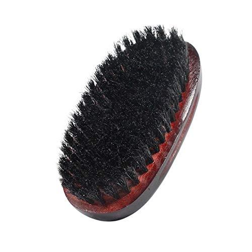 Beard Brush,ROMANTIC BEAR Brosse à Barbe En Soie De Sanglier 100% Naturelle Premium Pour Hommes Pour l'entretien et le soin des Barbes Longues (A)