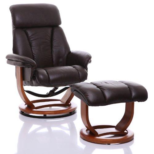 The Saigon Genuine Leather Recliner Swivel Chair