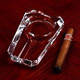 Práctica rectangular de cristal vidrio cigarros cenicero fumar alta moda y creativo humo transparente