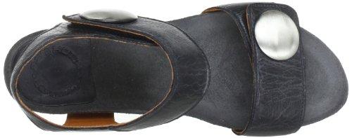 cashott A8020, Sandali donna Nero (Schwarz (black 130))