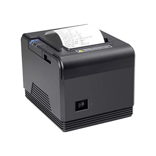 [Update 2.0] Thermodrucker 300mm / s USB 80mm Auto-Cut Schublade Unterstützung, Hochgeschwindigkeits Drucken, USB, Ethernet (LAN), kompatibel mit Alle ESC/POS eingestellt-EU
