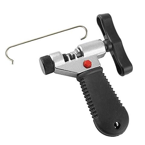 MTURE Werkzeug Kettennietdrücker,Kettennieter für Fahrrad Ketten Entferner Werkzeug, schwarz