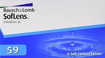 Soflens 59  - Lentes de contacto esféricas mensuales (R 8.6 / D 14.2 / 3 Diop), Pack de 6 uds.