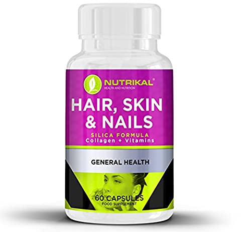 Hair Skin and Nails Support Supplement by Nutrikal - Premium
