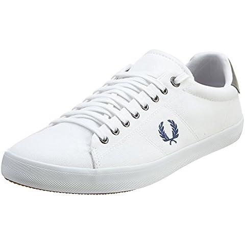 Fred Perry Howells Twill - Zapatillas de Piel para hombre Blanco blanco