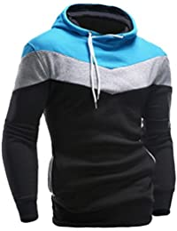 Bluestercool Felpa Uomo con Cappuccio Pullover Cotone Casual Sweatshirt
