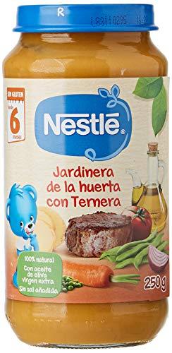 Nestlé Purés Tarrito de puré de verduras y carne, variedad Jardinera de...