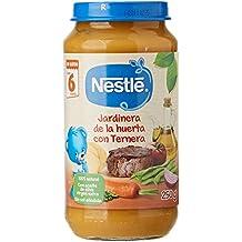 Nestlé Purés Tarrito de puré de verduras y carne, variedad Jardinera de la huerta con
