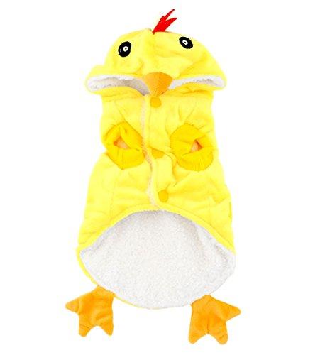 smalllee _ Lucky _ store Kleine Hunde Chick Kostüm Fancy Dress Pyjama für kleine Haustiere Hund Katze Welpen unter (Vogel Dress Kostüm Fancy)