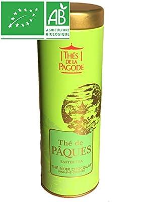 Thés de la Pagode - Thé NOIR CHOCOLAT PRALINE ORANGE BIO - 1 x 90g