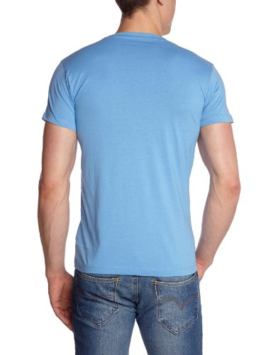 JACK & JONES Herren T-Shirt Slim Fit 12064808 SHADE S/S Blau (SILVER LAKE BLUE)