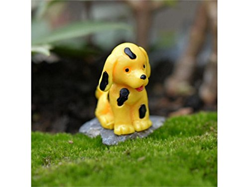 FOOBRTOPOO Design Unique Miniature Mignon Chien Micro Paysage Ornements Mini Dollhouse Bonsai Decor (Jaune) par  FOOBRTOPOO