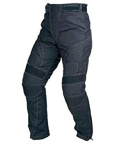 Juicy Trendz Diseñador Hombres Motocicleta Armadura Negro Textil Pantalones