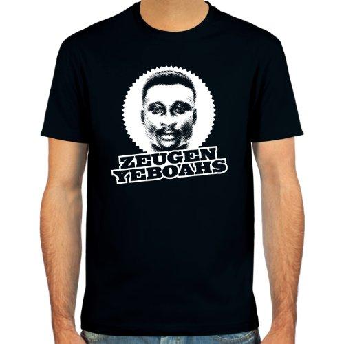 """SpielRaum T-Shirt Anthony """"Tony"""" Yeboah ::: Farbauswahl: skyblue, sand, deepred, schwarz, oliv oder navy ::: Größen: S-XXL ::: Fußball-Kult"""