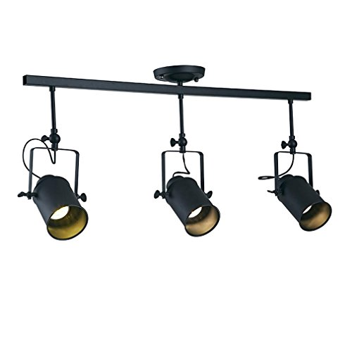 Küche Beleuchtung Track (GRFH Backdrop LED Downlights Track Light Kleidungsstück Shop Spotlight Retro Industrial Guide Lampe Shop Outfit Spotlight)