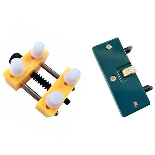 NICERIO Verstellbarer Uhröffner Uhrmacher Reparatur Werkzeug zurück Fall Press Closer Entferner Halter Werkzeug