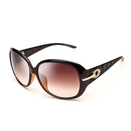 Sonnenbrillen Sonnenbrille Fashion Big Frame Brille Retro Schwarz Braun Rot Weiß Schütze Deine Augen (Farbe : #2)