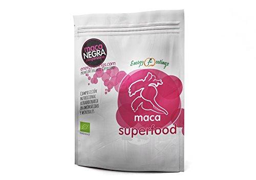 Energy Feelings Maca Negra Polvo Eco Suplementos - 2 Paquetes de 200 gr - Total: 400 gr