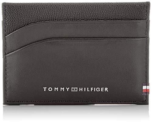 TOMMY HILFIGER Bi-Material CC Holder BlackDatos:o Material: 100% piel de vacao Dimensiones: Anchura de unos 10,5 cm, altura de unos 7,5 cm, profundidad de aproximadamente 1 cmo Color: Negroo Fabricante: TOMMY HILFIGER