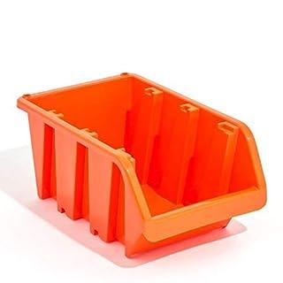20 Stapelboxen In-Box Sichtlagerkästen Sichtlagerbox Lager orange Gr 5