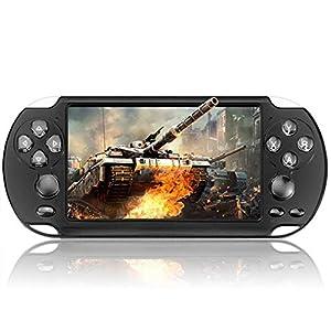 ZW Handheld-Spiele, 8 GB 5,1-Zoll-Handspiel-Spieler-Handspiel-Player Video FM Kamera tragbare Spielkonsole Zubehör In 10.000 Spielen Eingebaute