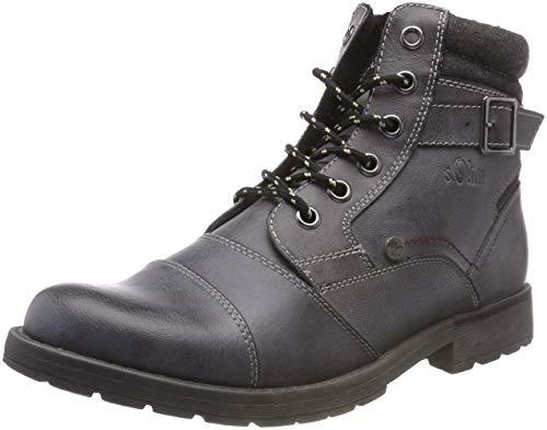 s.Oliver Herren 16209-21 Combat Boots, Grau (Grey 200), 41 EU