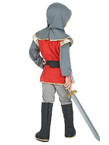Kleiner Ritter Kinderkostüm Mittelalter silber rot schwarz 122-134 - 2