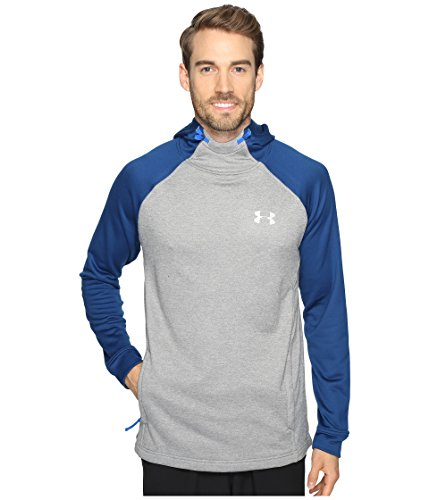 Under Armour Herren Tech Terry Popover, Herren, True Gray Heather/Blackout Navy/Silver, XXXX-Large
