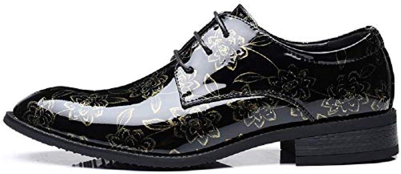 MON5F Home Scarpe da Uomo in Pelle Scarpe da Uomo Uomo Uomo di Grandi Dimensioni Flower Business Scarpe Singole Casual Scarpe... | Intelligente e pratico  | Scolaro/Signora Scarpa  f98cd4