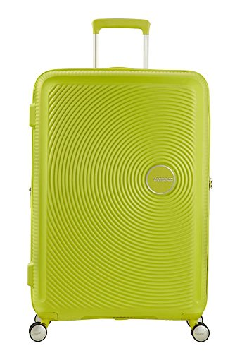 American Tourister - Soundbox Spinner Erweiterbar, 67cm, 71,5/81 L - 3,7 KG, Grün (Tropical Lime)
