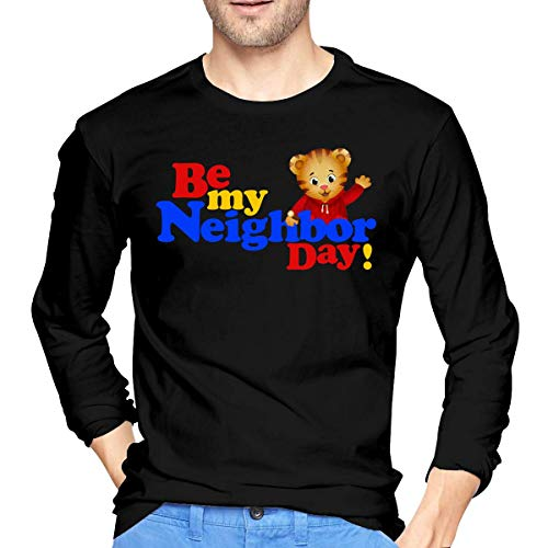 Maglie a manica lunga, uomo,aaaaaae camicie,camicie casual, men's daniel tiger's neighborhood long sleeve tshirt black