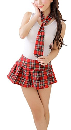 Plaid Kostüm Spandex - Shangrui Weibchen Cosplay Kostüm Serie Weste und Plaid Rock Schüler Uniform Anzug