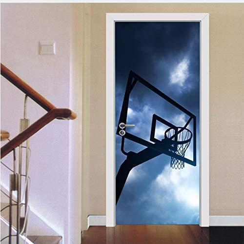 Fqz93in Ür-Wand Aufkleber Sport Basketball Tür Aufkleber Tapete Wandtattoo Poster Kinder Jungen Schlafzimmer Glas Holz Tor Tür Dekoration
