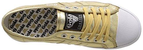 Gola - Coaster Metallic, Scarpe da ginnastica Donna Gold (Gold/Gold)