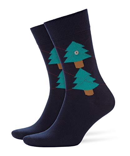 Burlington Herren Tannenargyle M SO Socken Baumwolle, Blau (Marine 6120), 40-46