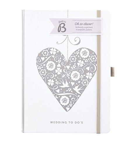 Busy B Wedding Planner to Do Notes Book-Cuore in Argento-Perfetto Come Regalo per Fidanzamento