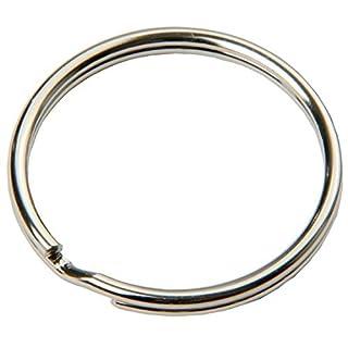 SBS® Schlüsselring | Ø 20 mm | 100 Stück | Stahl | glänzend und abgerundet | Schlüsselanhänger Schlüsselringe Schlüssel Ring