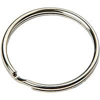 SBS® Schlüsselring Ø 20mm -100- Stück Stahl, glänzend