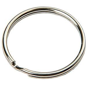 SBS® Portachiavi Anello Ø 20 mm – 100 pezzi in acciaio, lucido