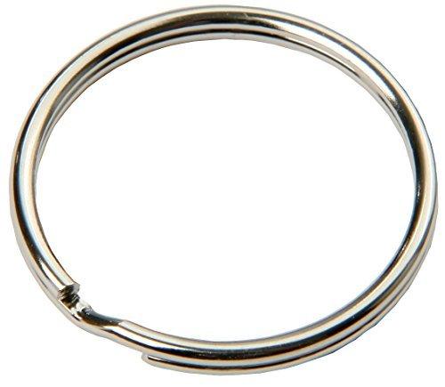 (SBS® Schlüsselring | Ø 20 mm | 100 Stück | Stahl | glänzend und abgerundet | Schlüsselanhänger Schlüsselringe Schlüssel Ring)