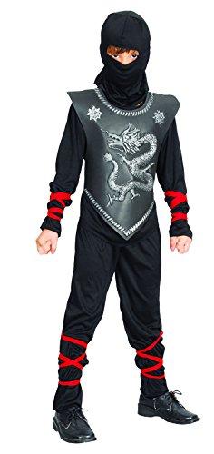 Imagen de reír y confeti  ficnin019  disfraces para niños  traje negro chico dragón ninja  boy  talla l