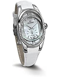 SECULUS WOMEN'S DESIGN WHITE LEATHER BAND QUARTZ WATCH 1668.2.1064 LW SSST W