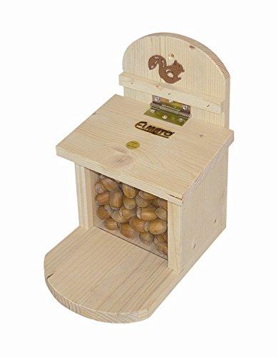Elmato 10225 Futterstation für Eichhörnchen, mit Plexiglasscheibe