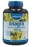 Naturmil Olio di Enotera 1000 mg con vitamina E, 180 capsule, senza zucchero, senza glutine, senza lattosio, non OGM, non testato su animali, prima presa fredda, senza conservanti.