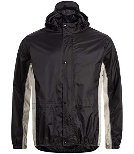HOCK Regenjacke Unisex - Jacke Windbreaker 100,0% Wasserdicht & Atmungsaktiv - Damen Herren Fahrradjacke (schwarz, XL)