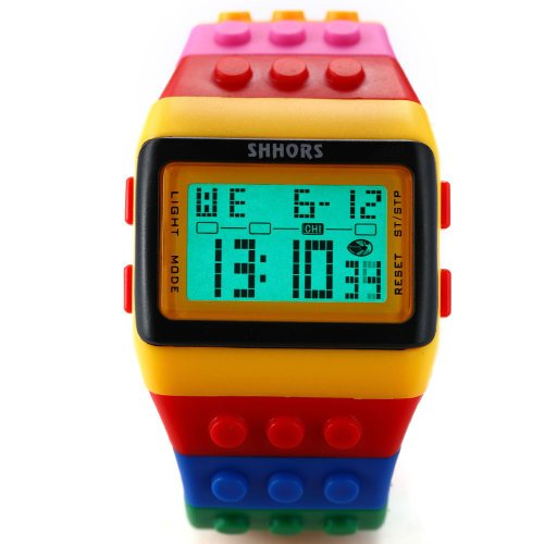 AMPM24 LED091 - Reloj Digital Unisex, Correa de Goma, LED, Deportivo