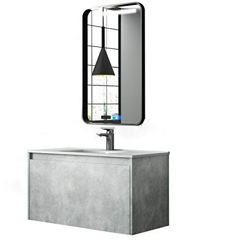 Nordic Moderne Smart Badezimmerschrank Kombination 100CM + Smart Mirror 100
