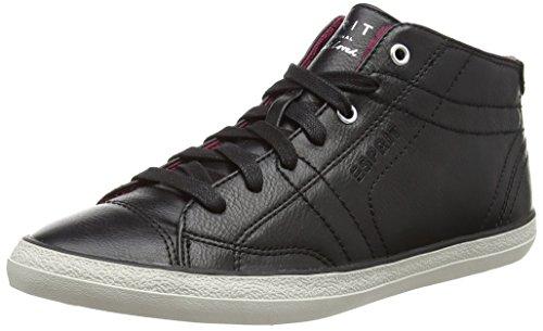 ESPRIT Miana Bootie, Damen Sneakers, Schwarz (001 Black), 36 EU
