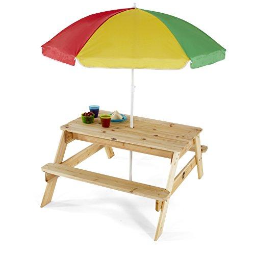 Ombrellone Da Tavolo.Plum Tavolo Da Picnic Con Ombrellone Da Giardino Per Bambini